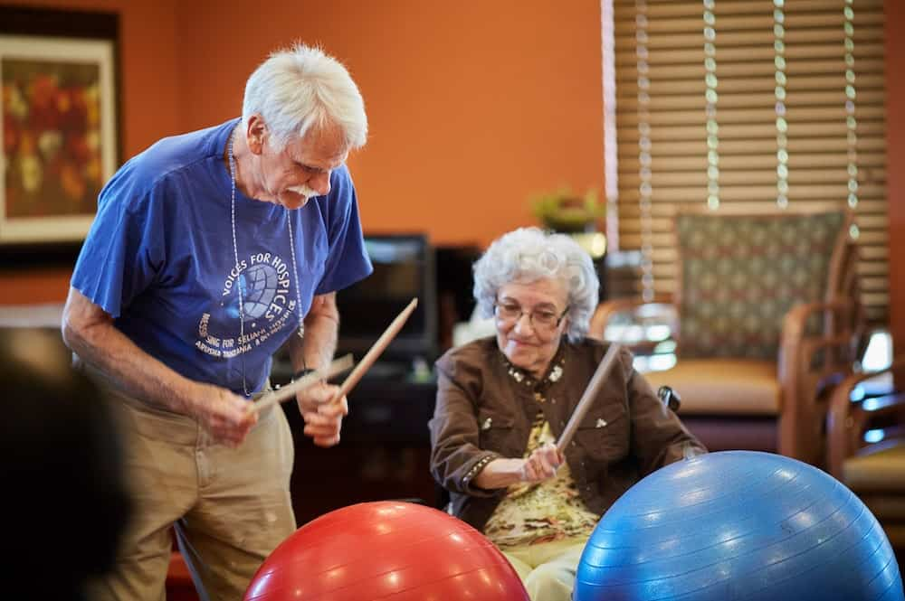 assisted living drum circle