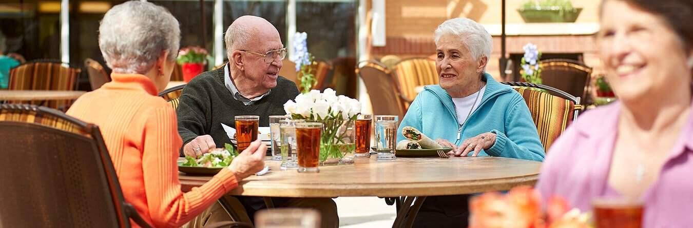 Elderly Couple having lunch