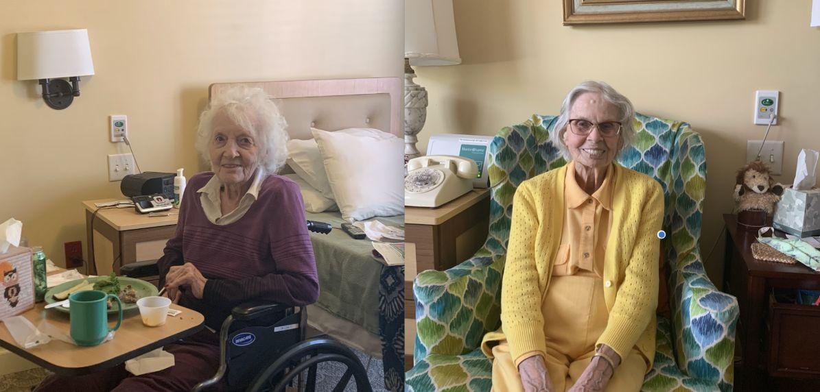 elderly senior living residents at clermont park
