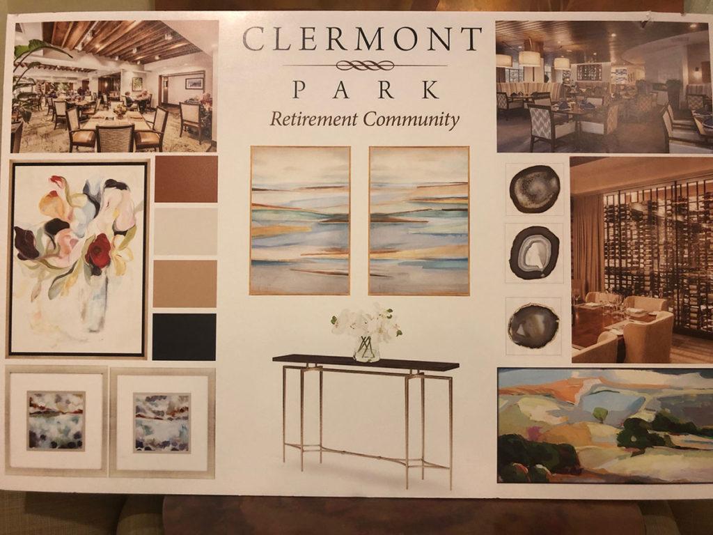 Clermont Park renovation finish board